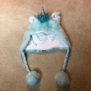 Justice unicorn girls winter hat